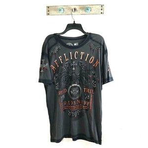 Affliction Tried and True Mens XL Black Shirt